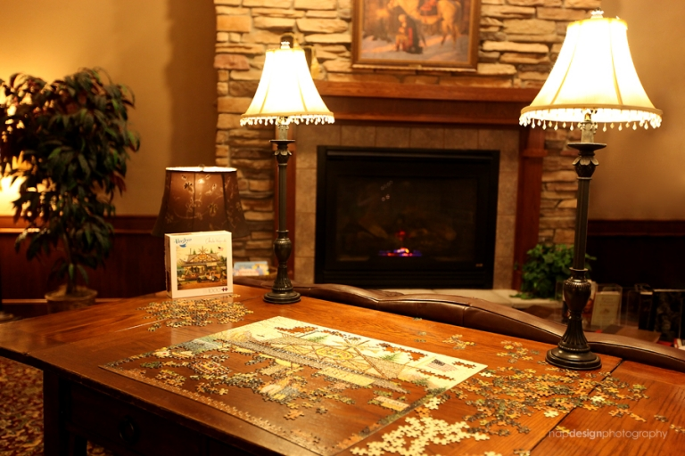 AmericInn McAlester Puzzle Table